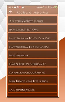 My Photo Birthday Lyrical Video Status Maker poster
