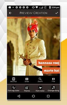 Rajasthani Lyrical Video Status Maker screenshot 5