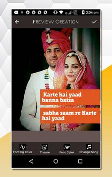 Rajasthani Lyrical Video Status Maker screenshot 3