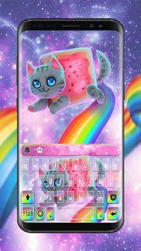 Rainbow Cat Keyboard Theme poster