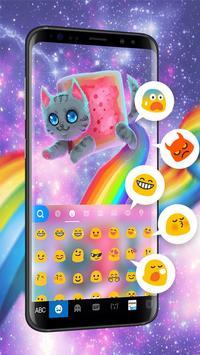 Rainbow Cat Keyboard Theme screenshot 1