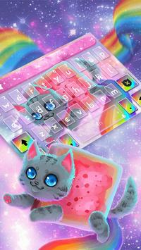 Rainbow Cat Keyboard Theme screenshot 3