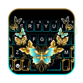 Vintage Golden Butterfly icon