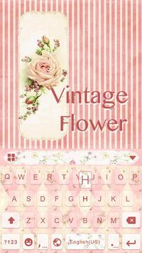 Vintage Flower Keyboard Theme poster