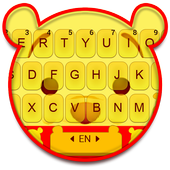 ikon Tema Keyboard Yellow Bear