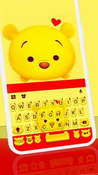 Tema Keyboard Yellow Bear poster