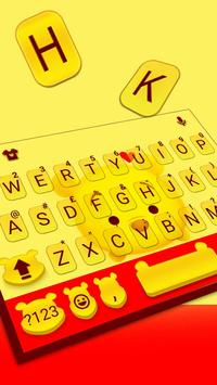 Tema Keyboard Yellow Bear screenshot 1