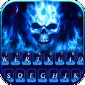 Flaming Skull Keyboard Theme