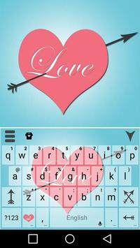 Pink Love Keyboard Theme poster