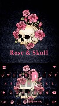 ثيم لوحة المفاتيح Roseskull الملصق