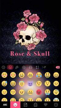 ثيم لوحة المفاتيح Roseskull تصوير الشاشة 1