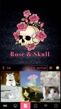 ثيم لوحة المفاتيح Roseskull تصوير الشاشة 2