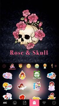 ثيم لوحة المفاتيح Roseskull تصوير الشاشة 3