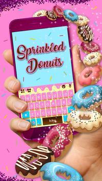 Sprinkled Donuts Kika Keyboard poster