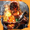Battle Skull Keyboard Theme