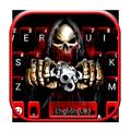 Bloody Skull Guns Keyboard Theme