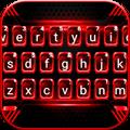 Black Red Tech Keyboard Theme