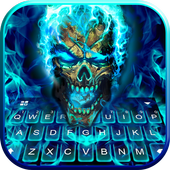 Blue Flame Skull icon