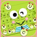 Cartoon Green Frog Keyboard Theme