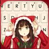 Tło klawiatury Christmas Cat Girl ikona