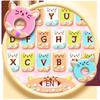 Chủ Đề Bàn Phím Colorful Donuts Button biểu tượng