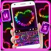 最新版、クールな Colorful Hearts のテーマキーボード アイコン