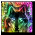 Colorful Wolf Keyboard Theme