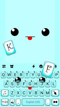 خلفية الكيبورد Cute Face Tongue تصوير الشاشة 4