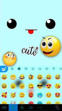 خلفية الكيبورد Cute Face Tongue تصوير الشاشة 2