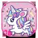 Tema Keyboard Cute Pink Unicorn