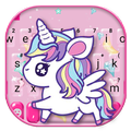 Cute Pink Unicorn Keyboard Theme