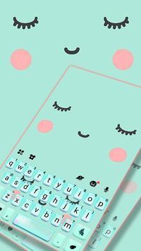 ثيم لوحة المفاتيح Cute Sweet Face الملصق