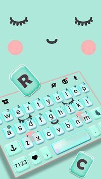 ثيم لوحة المفاتيح Cute Sweet Face تصوير الشاشة 1