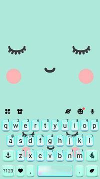 ثيم لوحة المفاتيح Cute Sweet Face تصوير الشاشة 4