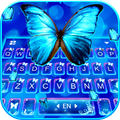 Delicate Neon Butterfly Keyboard Theme