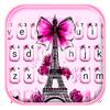 Klawiatura motywów Eiffel Tower Bowknot ikona