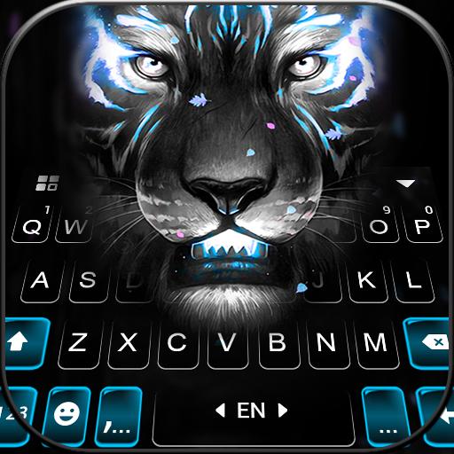 Fierce Neon Tiger Tastaturhintergrund