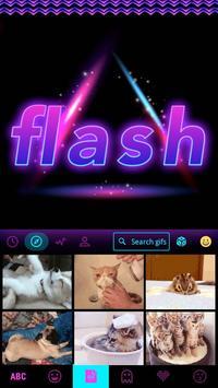 Flash Emoji Kika KeyboardTheme screenshot 3