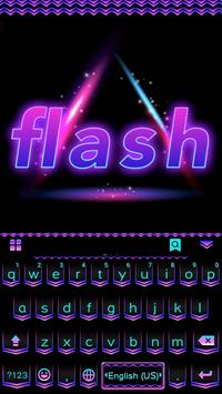 Flash Emoji Kika KeyboardTheme screenshot 1