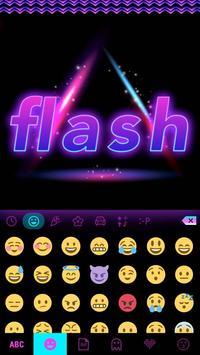 Flash Emoji Kika KeyboardTheme screenshot 2