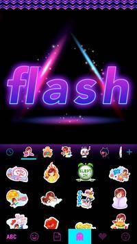 Flash Emoji Kika KeyboardTheme screenshot 4