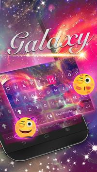 Dreamer Galaxy Emoji Keyboard Theme screenshot 1