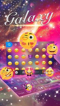 Dreamer Galaxy Emoji Keyboard Theme screenshot 2