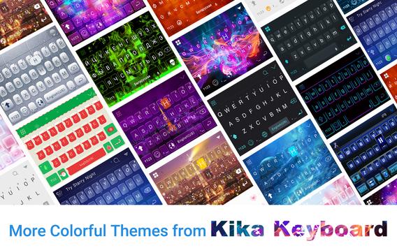 Dreamer Galaxy Emoji Keyboard Theme screenshot 3