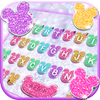 Girly Glitter Minny Keyboard Theme icon
