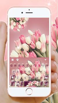 Girly Pink Tulip poster