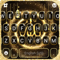 Gold Glitter Allah Keyboard Theme