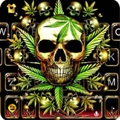 Gold Weed Skull icon