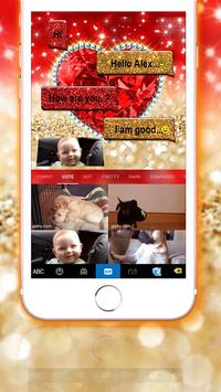 Golden Red Luxury Heart Keyboard Theme screenshot 3