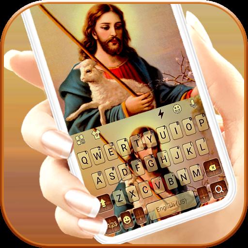 Glowing Lord Jesus Keyboard Theme